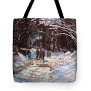 Snow In The City Tote Bag by Jack Skinner