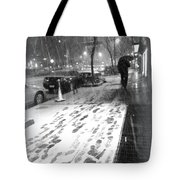 Snow In The City Tote Bag