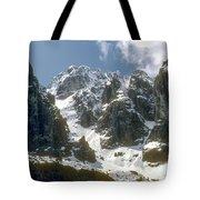 Snow In The Dolomites Tote Bag