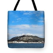 Snow In The Harbour Tote Bag