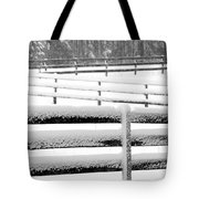 Snow In The Pasture Tote Bag