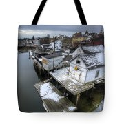 Snow In The South End Tote Bag