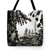 Snow In Trees At Narada Falls II Tote Bag