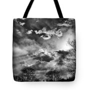 Snow Is In The Air Bw Tote Bag