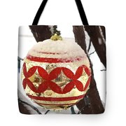 Snow Just In Time For Christmas Tote Bag