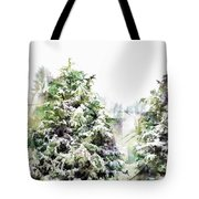 Snow Laden - Digital Effect IIi Tote Bag