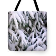 Snow Laden Branches Tote Bag