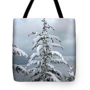 Snow Laden Tree Tote Bag