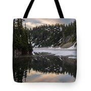 Snow Lake Last Fog Tote Bag