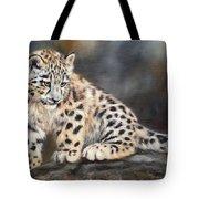 Snow Leopard Cub Tote Bag