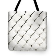 Snow Link Fence Tote Bag by Andee Design