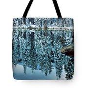 Snow Mirror Tote Bag