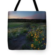 Snow Mountain Trail Tote Bag