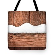 Snow On Fence Tote Bag by Tom Gowanlock