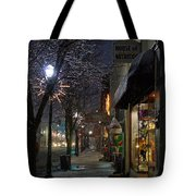 Snow On G Street 3 - Old Town Grants Pass Tote Bag