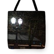 Snow On G Street In Grants Pass - Christmas Tote Bag
