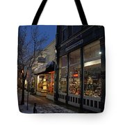 Snow On G Street - Old Town Grants Pass Tote Bag