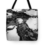Snow On Rock Bw Tote Bag