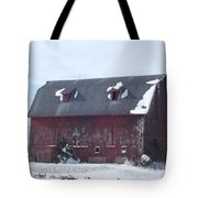 Snow On Roof Tote Bag