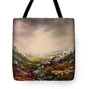 Snow On The Cairngorms Tote Bag
