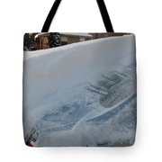 Snow On The Car Tote Bag