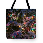 Snow On The Christmas Tree 1 Tote Bag