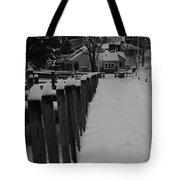 Snow On The Docks Tote Bag
