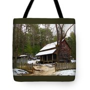 Snow On The Roof Top Tote Bag
