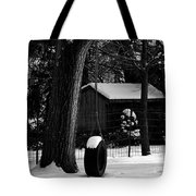 Snow On Tire Swing Tote Bag