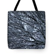 Snow On Twigs Tote Bag