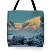 Snow On Utah Mountains Tote Bag