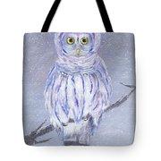 Snow Owl Tote Bag
