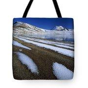 Snow Patterns Near Blue Lake Mt Tote Bag