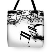 Snow Picnic Tote Bag by Diana Angstadt