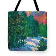Snow Pines Tote Bag