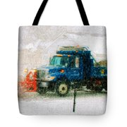 Snow Plow Painterly Tote Bag