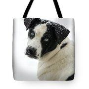 Snow Puppy Tote Bag