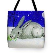 Snow Rabbit Tote Bag