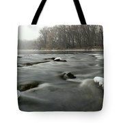 Snow Rapids Tote Bag