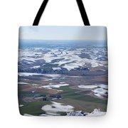 Snow Remnants On The Palouse Tote Bag