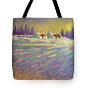 Snow Scape County Wicklow Tote Bag by John  Nolan