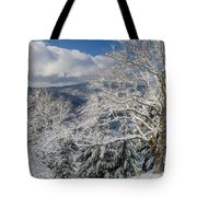 Snow Scene At Berry Summit Tote Bag