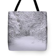 Snow Scene Neopointillism Tote Bag
