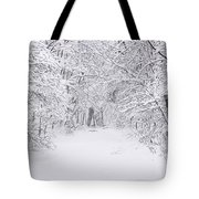 Snow Scene Tree Branches Tote Bag