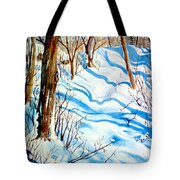 Snow Shadows Tote Bag