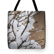 Snow Shower Tote Bag