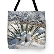 Snow Spines Tote Bag