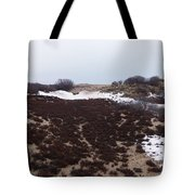 Snow Spotted Dunes Tote Bag