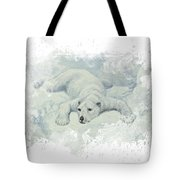Snow Storm Tote Bag