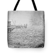 Snow Storm In Bass Harbor On Mount Desert Island Maine Tote Bag